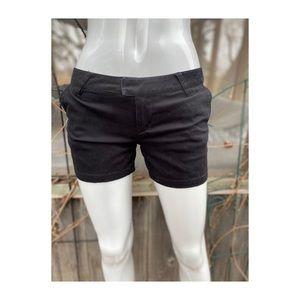 Volcom Black Low Rise Mini Shorts Stretch Cotton